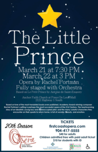 The Little Prince: Opera by Rachel Portman @ Anchor Faith Church
